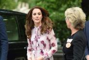 凯特王妃粉嫩玫瑰裙美丽动人 与王子携手亮相笑容灿烂